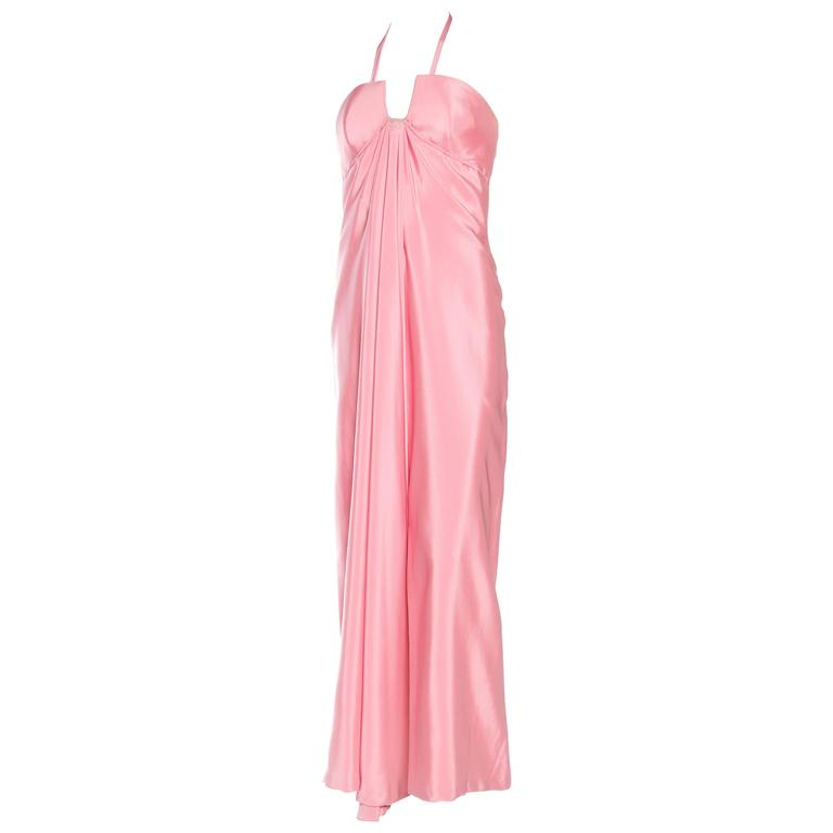 1970s Draped Godess Gown