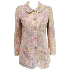 Chanel Spring 1998 Pastel Cotton Tweed Longer Length Jacket