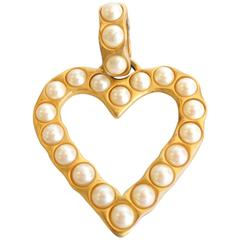 1980s Givenchy Gold Pearl Pendant
