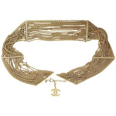 Chanel Gold Multi-Strand Chain Link Belt