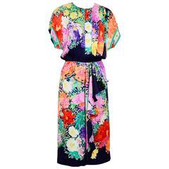 Vintage Silk Signed LEONARD Dress