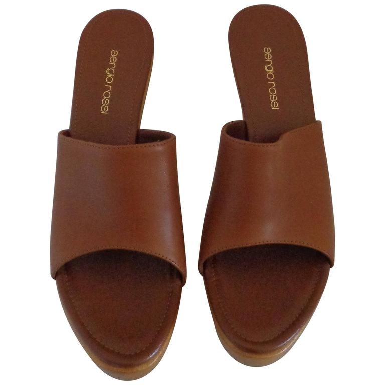 Sergio Rossi Brown Clog