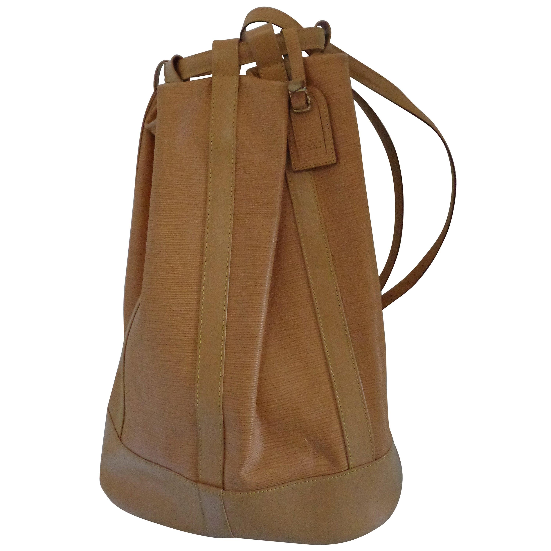 Louis Vuitton Epi Beije Leather Backpack Satchel