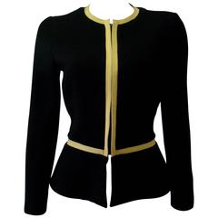 Unique Gianni Versace Couture Honeycomb Zip Fronted Jacket Fall 1991