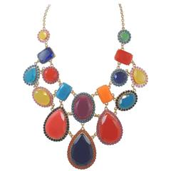 Kate Spade Multicolor Stone Bib Necklace