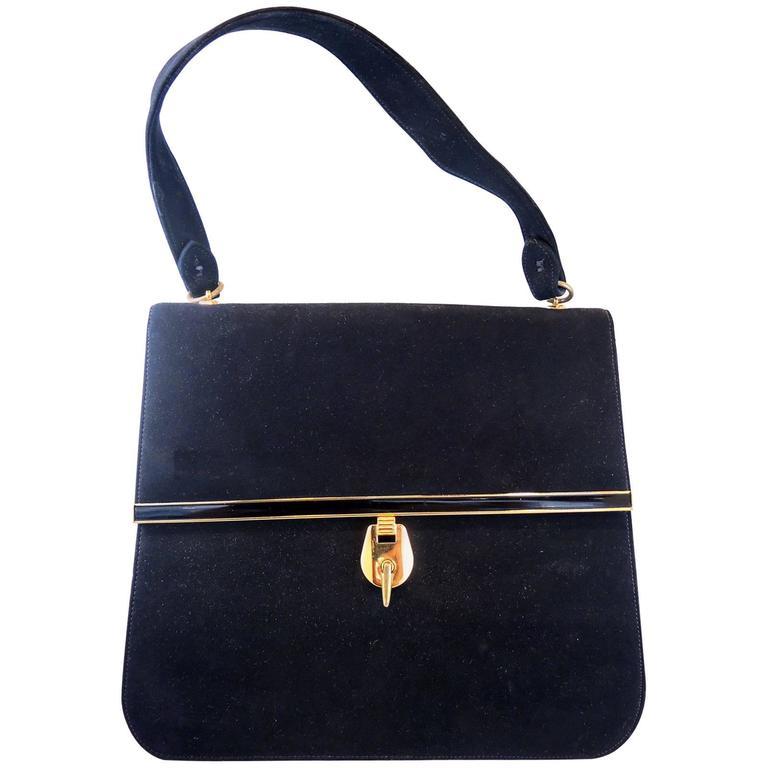 1stdibs Vintage 80s Mamselle Suede Handbag d8iik