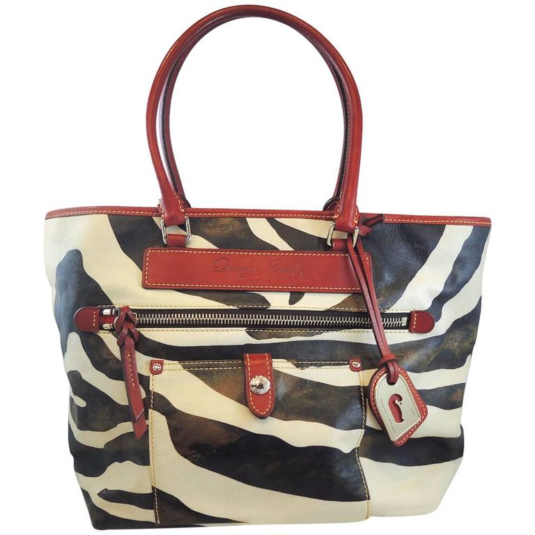 444000a4ac72 Dooney and Bourke Vintage Zebra Florentine Vachetta Leather Handbag ...