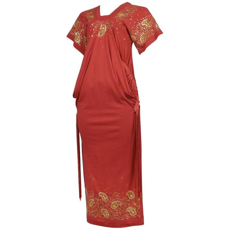 John Galliano for Christian Dior Boho Ribbon Dress