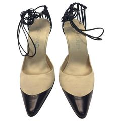 Chanel Satin Ankle Wrap Brand New Pumps
