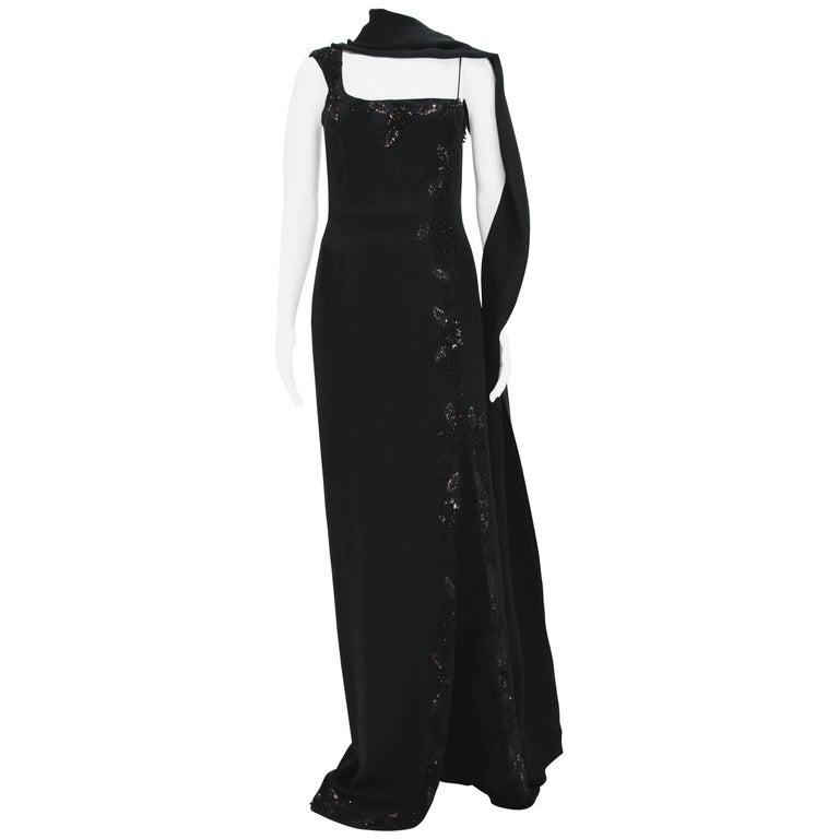New $7500 L'WREN SCOTT S/S 2010 Represent Her *MADAME DU BARRY* Black Dress Gown For Sale