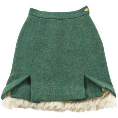 Vivienne Westwood Autumn-Winter 1991 green tweed skirt with a crinoline