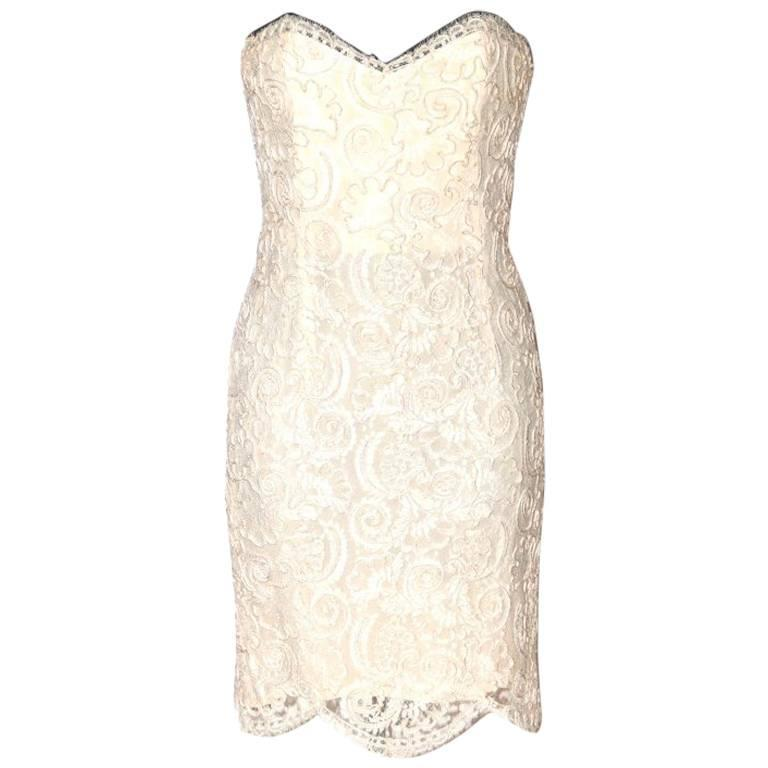Chanel Strapless Dress - Ivory Lace - Excellent Condition 1