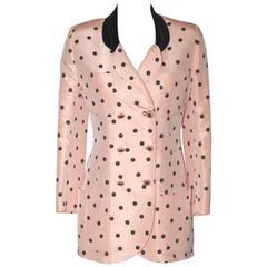 Chanel Pink and Black Polka Dot Jacket