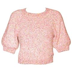 Chanel Pink Crewneck Sweater – 2016 Paris Seoul Cruise Collection – Like New