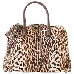 VALENTINO Garavani Cavallino Rockstud Dome Satchel Animal Leopard Print