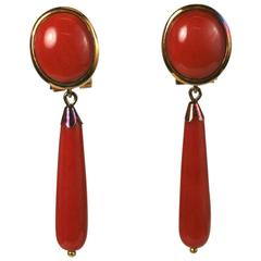 Attractive Coral Drop Earrings