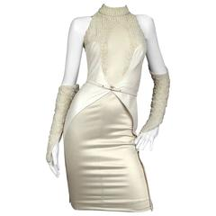 SarahNeuhard pearl embellished knee length dress