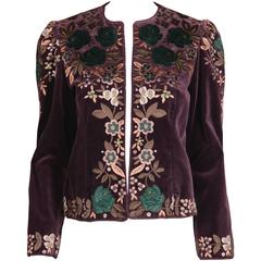 Oscar de la Renta Vintage Embroidered Jacket