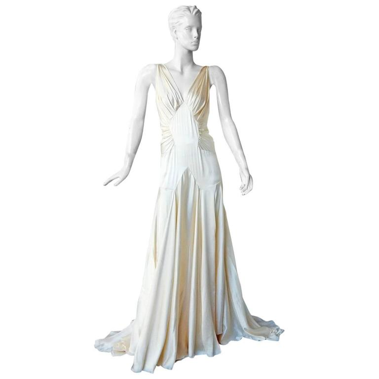 """Rochas Slipper Satin """"Old Hollywood"""" Gown"""