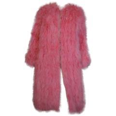 Vicky Valere French Maribou Turkey Feather Coat