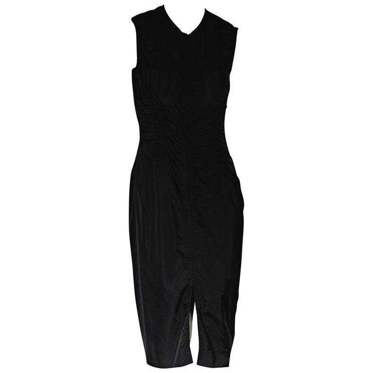 Black Yves Saint Laurent Silk Sheath Dress 1