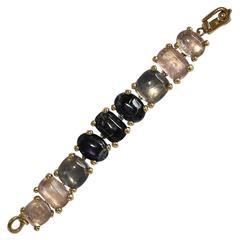 Goossens Paris Tinted Rock Crystal Bracelet