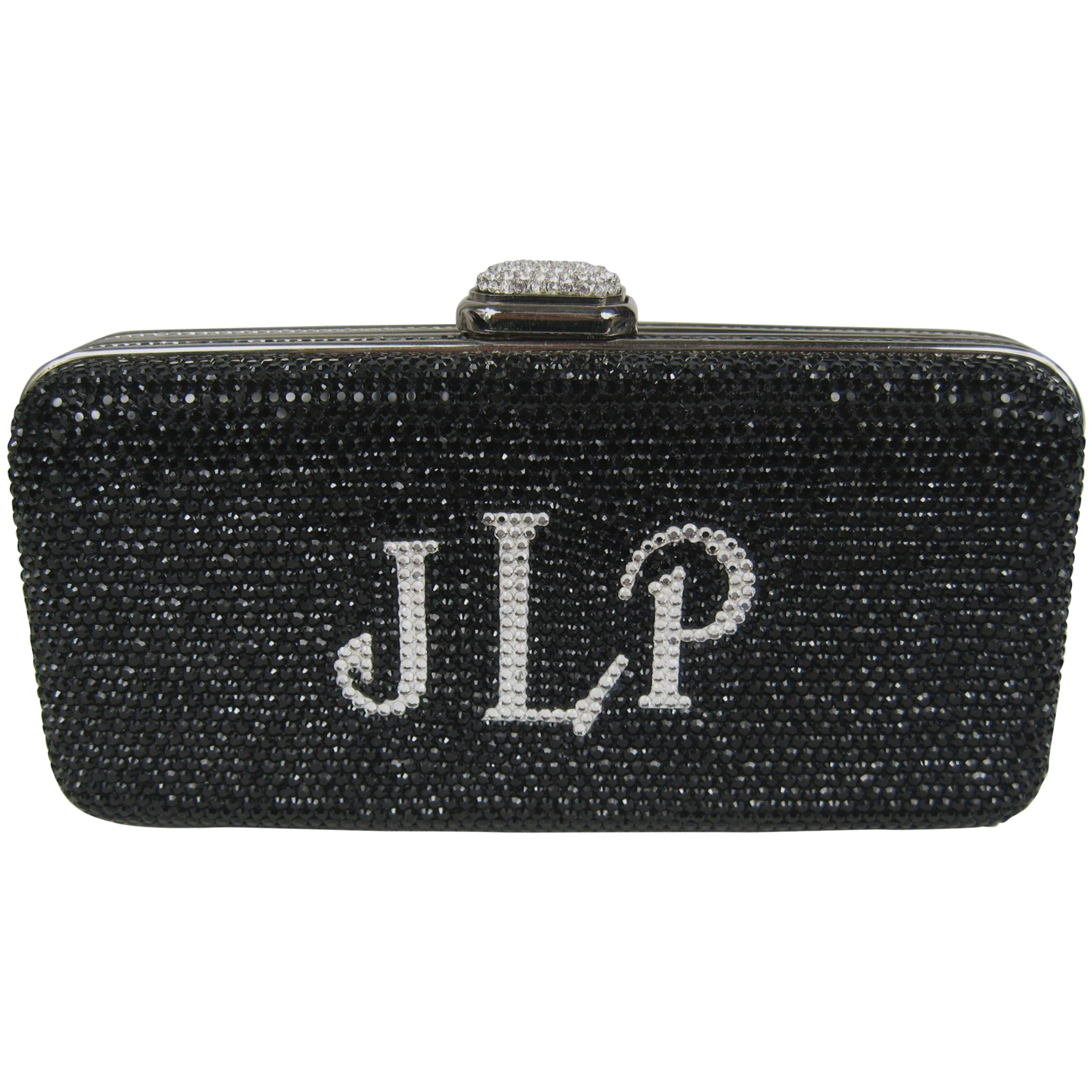 Judith Leiber Black Jlp Black Silver Minaudiere Clutch Double Sided $2625. New tOgKjYRFwg