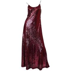 Documented 1972 Bill Blass Dress as Seen on Anjelica Huston