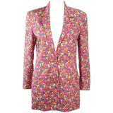 GIANNI VERSACE Vintage Floral Print Blazer with Medusa Buttons Size 8 10