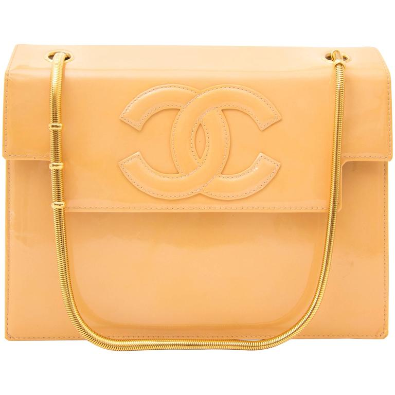 Chanel Moutarde Patent Flap Bag 1