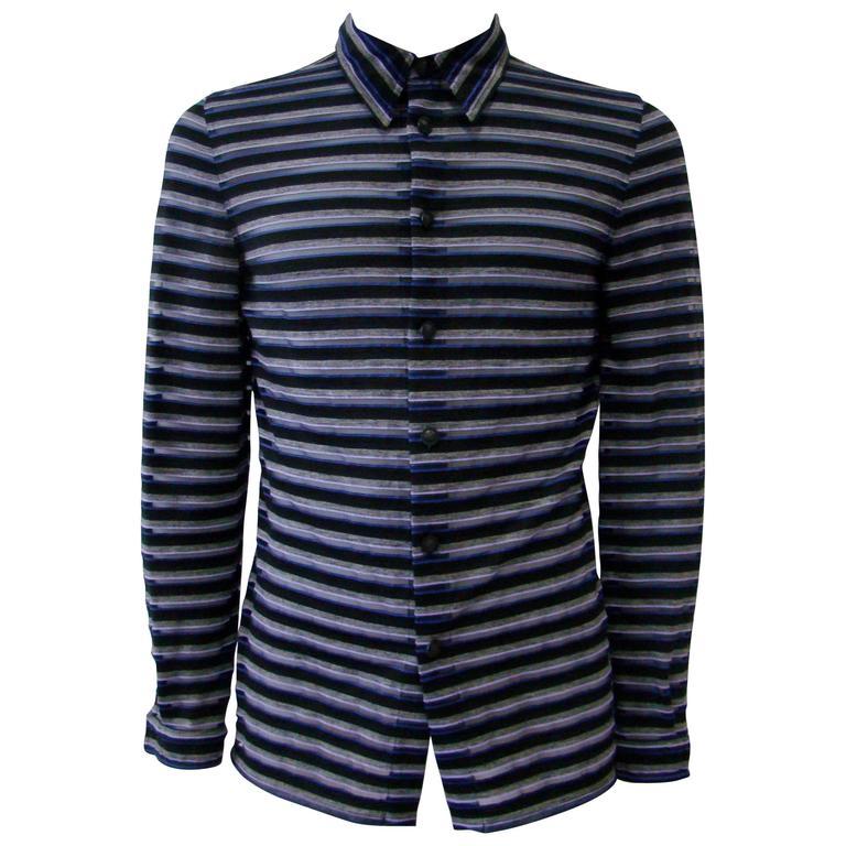 Gianni Versace Striped Sheer Shirt Fall 1997 1