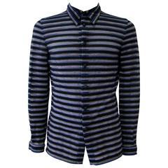 Gianni Versace Striped Sheer Shirt Fall 1997