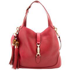 Gucci Red Jackie Leather Shoulder Bag