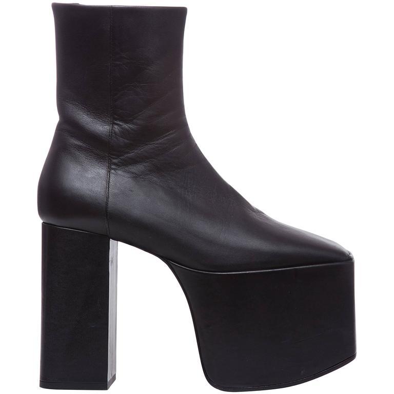 Demna Gvasalia For Balenciaga Black Leather Platform Boots, Autumn - Winter 2016