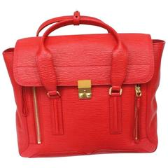 New PHILLIP LIM  Red Pashli large satchel handbag
