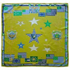 Atelier Versace Flags Printed Silk Scarf