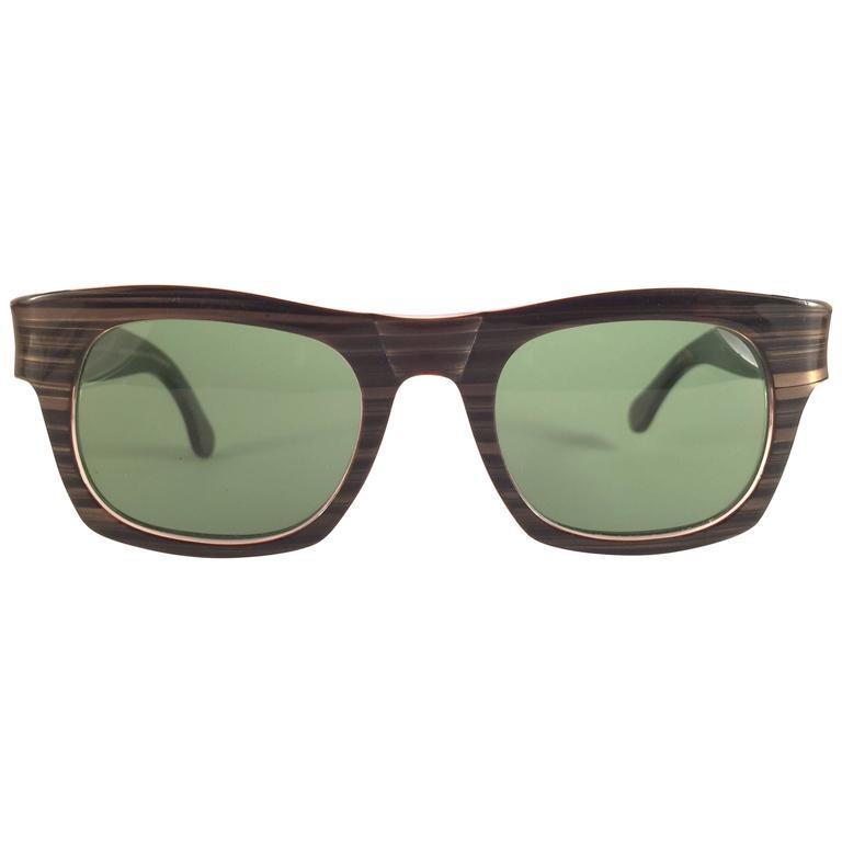 New Vintage Ray Ban Plainsman 1960's MidCentury G15 Lens USA B&L Sunglasses