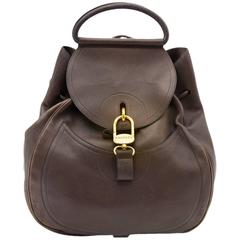 Delvaux Brown Cerceau GM Backpack
