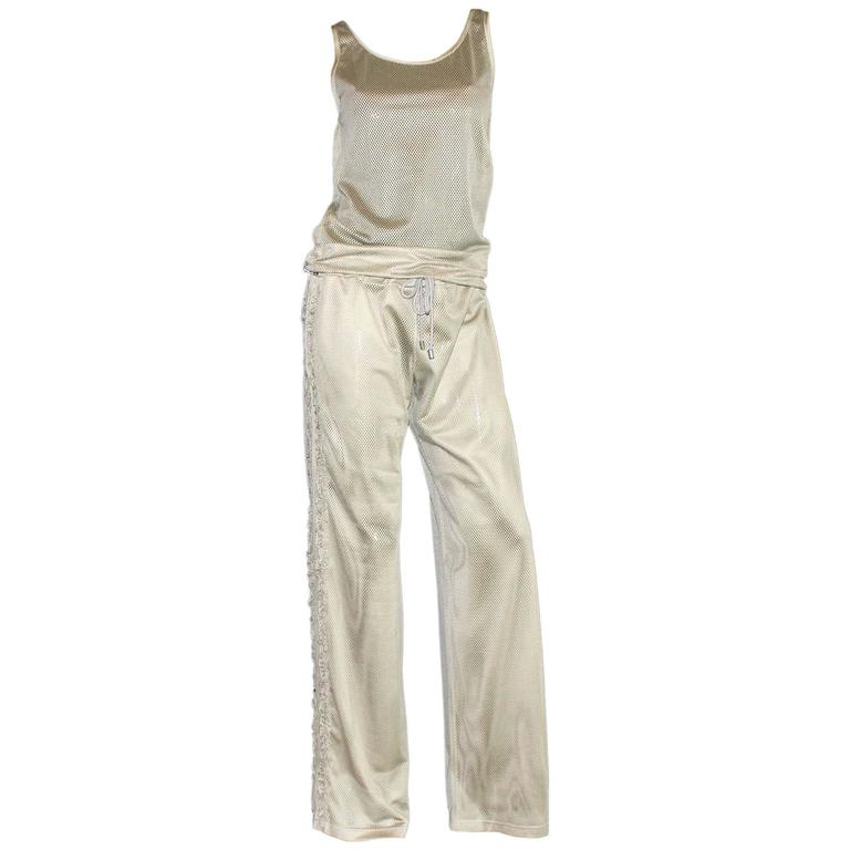 Chanel Mesh Track Pants with Top