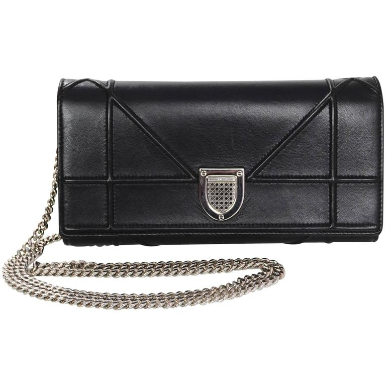 c619344d7929 Christian Dior Black Diorama Croisiere WOC Wallet on a Chain Crossbody Bag  For Sale at 1stdibs