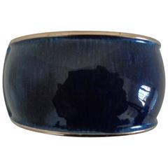 Say y Limon Blu Gold Bangle Bracelet