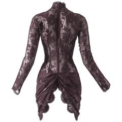 Givenchy by John Galliano Haute Couture Autumn-Winter 1996 lace mini dress