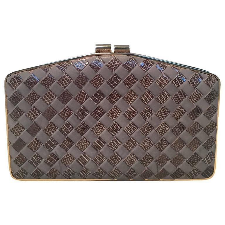1stdibs Bottega Veneta Woven Leather Clutch Vintage modpgsPh2