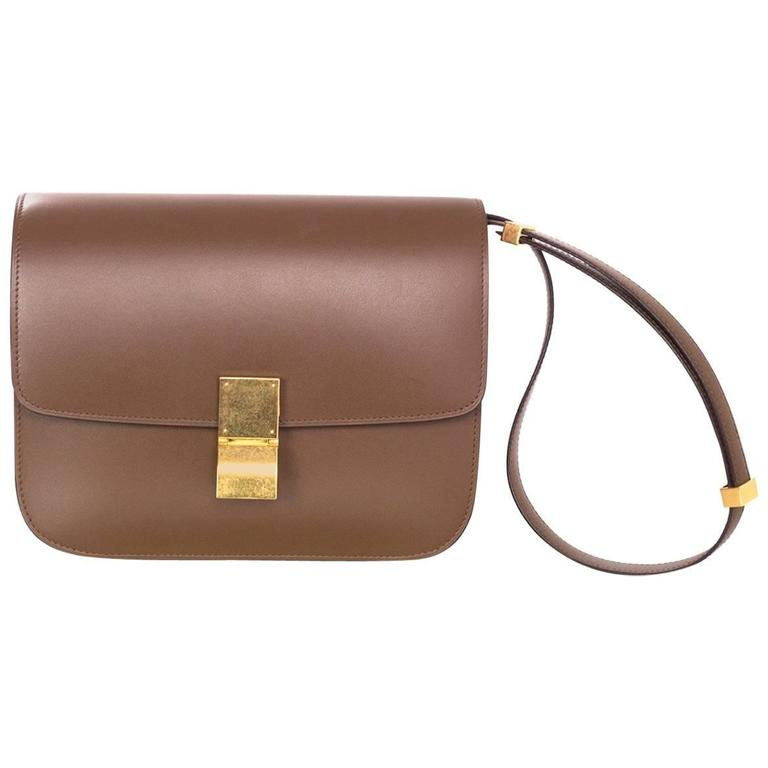 Celine Camel Leather Medium Box Bag rt. $3,900 1