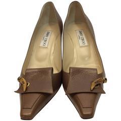 Jimmy Choo Tan Leather Heels