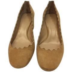 Chloe Suede Scalloped Heels