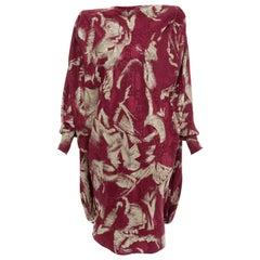 Emanuel Ungaro Couture Paris Printed Silk Balloon Collection Dress, Circa 1980s