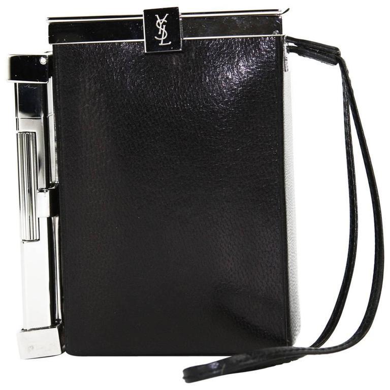 Saint Laurent New Tom Ford For Yves Saint Laurent S/s 2001 Leather Cigarette Case And Lighter 0SSG2x7Gxp