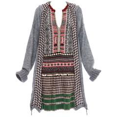 Jean Paul Gaultier Mohair Nylon Knit Dress With Hood , Autumn - Winter 2010
