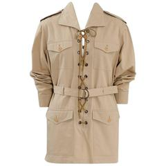 Yves Saint Laurent Cotton Safari Tunic